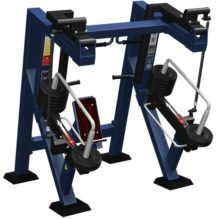 Bench Press in Sitting Position with Variable Load - Street Barbell Line Equipment