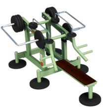 Bench Press with Variable Load - Street Barbell Light